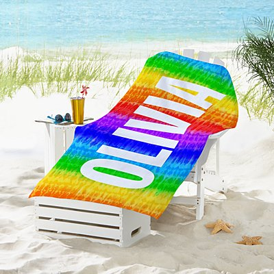 Colourful Tie Dye Beach Towel
