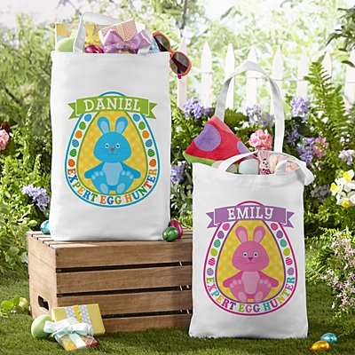 Bunny Egg Hunter Tote Bag