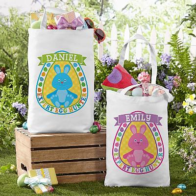 Bunny Egg Hunter Tote Bag