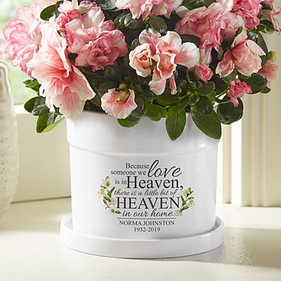 For Loved Ones In Heaven Flower Pot