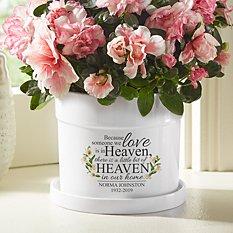For Loved Ones In Heaven Flower Pot