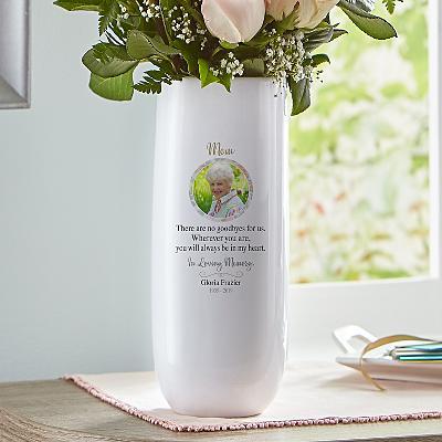 In Memory Photo Vase