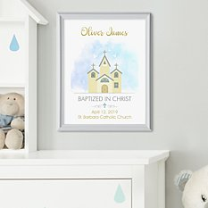 Little Chapel Baptism Framed Print