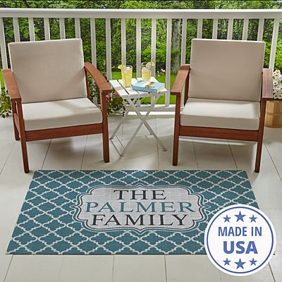 Oversized Pattern Outdoor Mat
