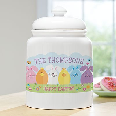 Spring Friends Cookie Jar
