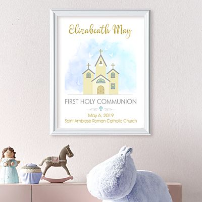 Little Chapel First Holy Communion Framed Print