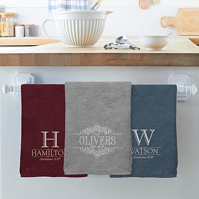 Decorative Name Tea Towel