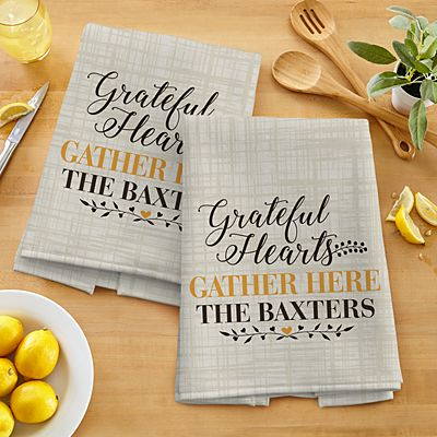 Grateful Hearts Kitchen Towel