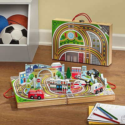 Melissa & Doug® Take Along Vehicle Town