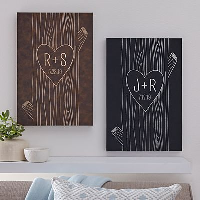 Carved Heart Leather Wall Art