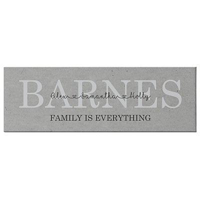 Family Love Canvas - Grey - 45x15 cm