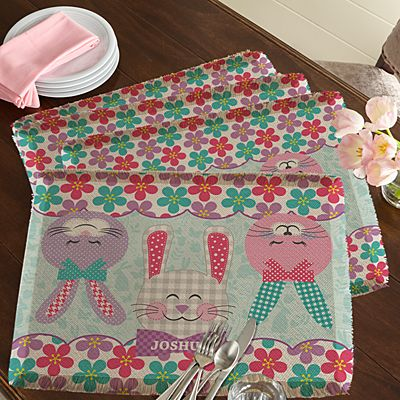 Bunnies Gather Here Placemats