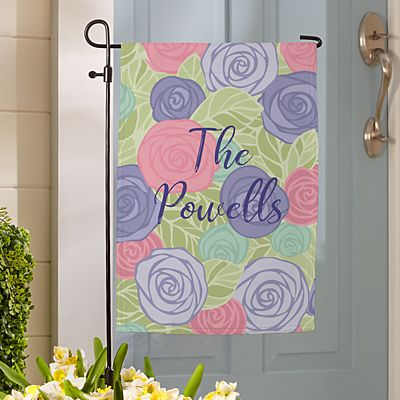 Colorful Roses Garden Flag