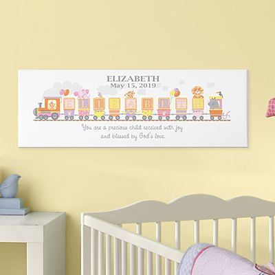 Name Train Canvas Wall Art