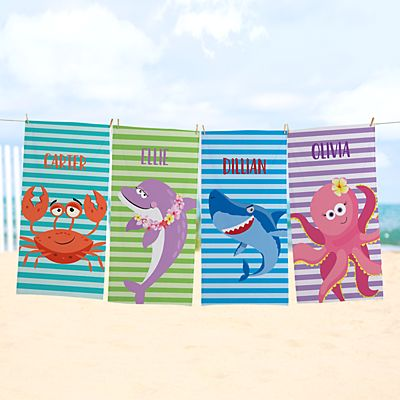 Ocean Stripes Beach Towel