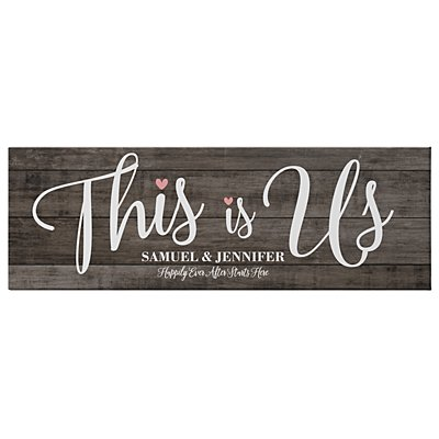 This is Us Wedding Canvas - 45x15 cm