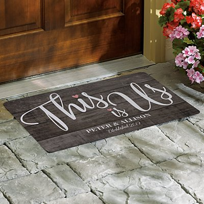 This is Us Wedding Doormat