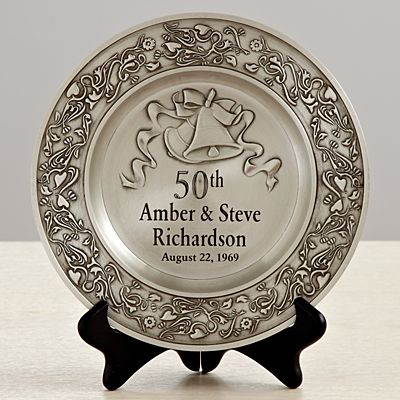 Anniversary Pewter Plate