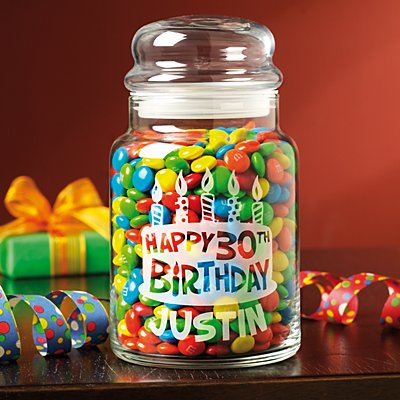 Birthday Candy Jar