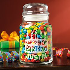 Birthday Candy Jar