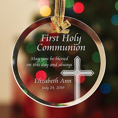 Communion/Confirmation Glass Ornament