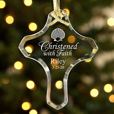 Glass Cross Ornaments