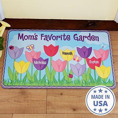 Tulip Garden Doormat