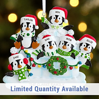 Penguin Igloo Family Ornament