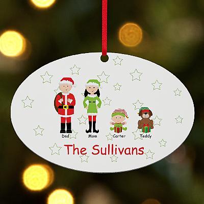 Santa & Company Family Oval Bauble
