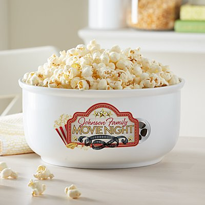 Family Movie Night Popcorn Bowl