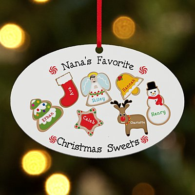 Christmas Sweets Oval Bauble