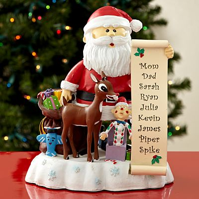 Santa and Rudolph the Red-Nosed Reindeer Figurine
