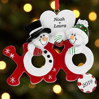Hugs & Kisses Snowmen Ornament