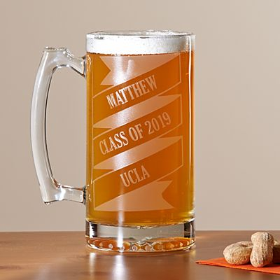 Celebration Banner Oversized Beer Mug