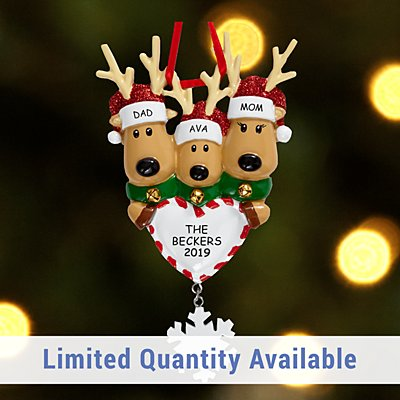 Reindeer Family Ornament