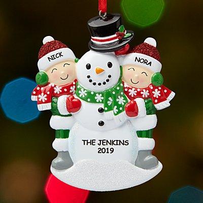 Building a Snowman Family Ornament - 2