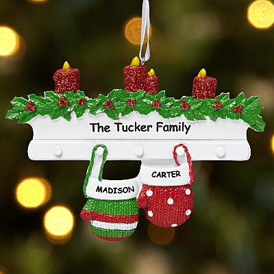Mitten Family Couple Bauble