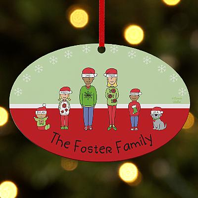 Create Your Own Family & Friends Oval Bauble