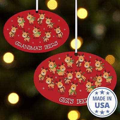 Little Deers Oval Ornament