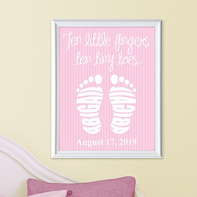 Ten Tiny Toes Framed Print