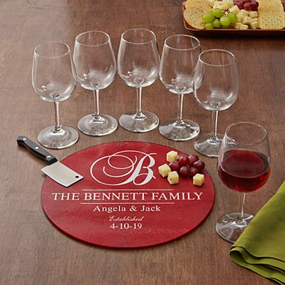 8pc Decorative Wine Service Set
