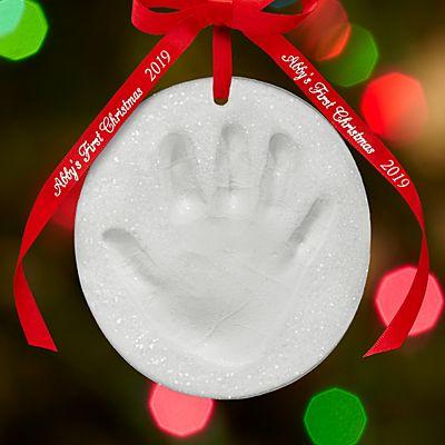 Glittery Snow Handprint Ornament Kit
