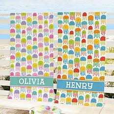 Joyful Jellyfish Beach Towel