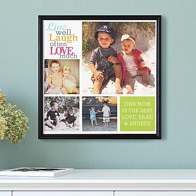 Live Laugh Love Photo Canvas