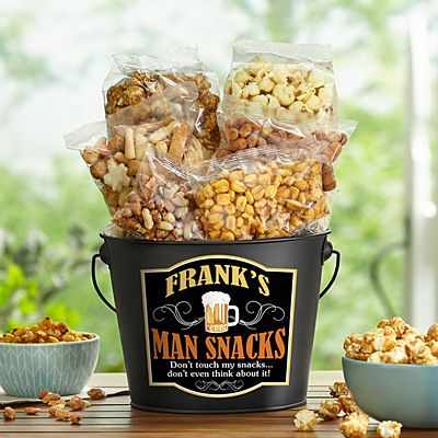 Man Snacks Bucket