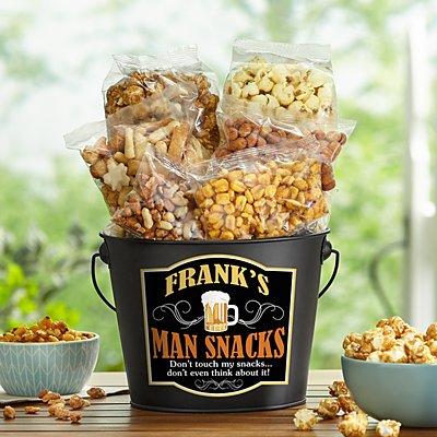 Man Snacks Bucket