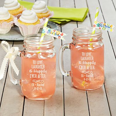 To the Happy Couple! Mason Jars