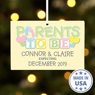 Parents to Be Rectangle Ornament
