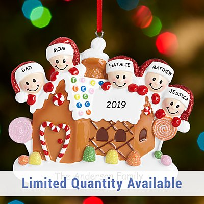 Gingerbread House Family Ornament