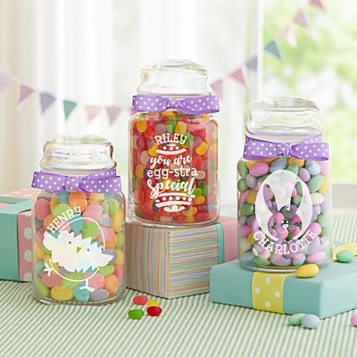 Easter Glass Candy Jars